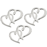 Double Hearts Wedding Tokens - 12 pieces