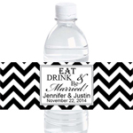 Eat Drink and Be Married Water Bottle Label - 12 pieces
