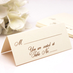 Ecru Classic Place Cards - 50 pcs
