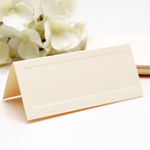 Ecru Blank Place Cards - 50 pcs