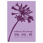 Elegant Blossom Save the Date Magnets - 20 pcs