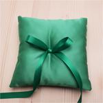 Emerald Green Satin Ring Pillow
