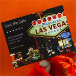 Fabulous Las Vegas Save-The-Date Cards - 25 pcs