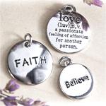 Faith, Love and  Believe Favor Charms