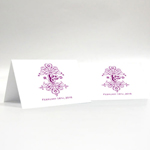 Fanciful Monogram Place Card with Fold