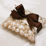 Filigree Clear Mini Pillow Favor Box - 12 pcs
