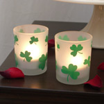 Frosted Shamrock Votive