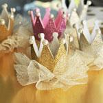 Glitter Crown Clips