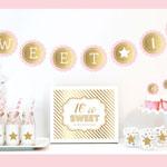 Gold & Glitter Sweet Sixteen Party Kit