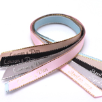 Gold or Silver Edge Satin Personalized Ribbon - 50 pcs