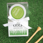 Golf Ball Keychain and Tape Measure Favor