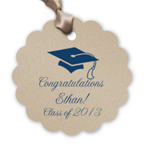 Graduation Personalized Petal Scallop Tags