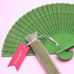 Green Sandalwood Fans