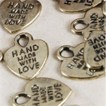Handmade with Love Favor Charms - 65 pieces