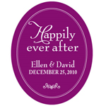 Happily Ever After Oval Stickers