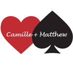 Heart and Spade Die-Cut Personalized Label - 12 pcs