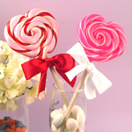 Heart Shaped Wedding Lollipops