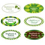Irish Oval Personalized Labels - 24 pcs
