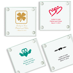 Irish Personalized Glass Coasters