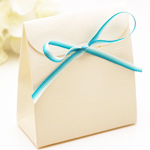 Ivory Linen Favor Bags - 10 pcs