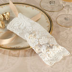 Ivory Lace Favor Bags - Set of 6