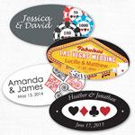 Las Vegas Oval Personalized Labels - 24 pcs