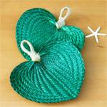 Lime Green Palm Leaf Hand Fans - 10 pcs