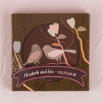 Love Birds Cork Back Coaster Set