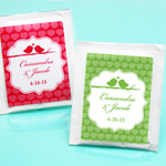 Love Birds Personalized Tea Bag Favor