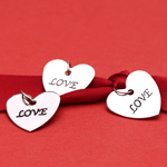 Love Heart Charms - 20 pcs