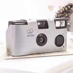 Metallic Silver Wedding Camera