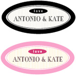 Metropolitan Oval Stickers or Hang Tags - 24 pcs