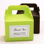 Mini Colored Plastic Gable Boxes - 12 pcs