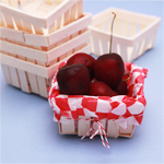 Mini Wooden Basket Favor - 6 pcs