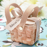 Mini Woven Picnic Baskets - 6 pcs