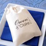 Monogram Muslin Cotton Favor Bags