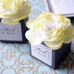 Monogram Flower Topped Favor Box