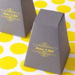 Monogram Pedestal Favor Box