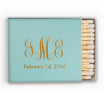 Monogram Personalized Matchboxes