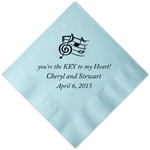 Music Themed Personalized Napkins - 25 pieces