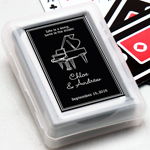Musical Silhouette Personalized Playing Cards