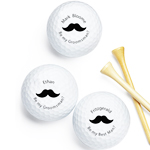 Mustache Be My Groomsmen Personalized Golf Balls -18 pcs