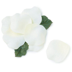 Natural White Silk Rose Petals - 110 pcs