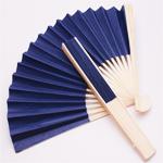 Navy Blue Paper Hand Fans