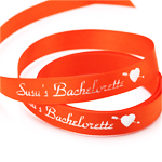 Orange Personalized Ribbon - 10 yards