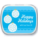 Holiday Ornament Personalized Mint Tins