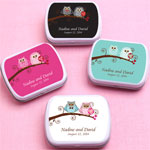 Owl Bride and Groom Personalized Mint Tins