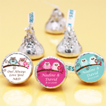 Owl Bride and Groom Personalized Hershey��s Kisses�