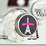 Paris Chalkboard Personalized Mini Glass Candy Jars