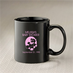Personalized Black Ceramic Coffee Mug